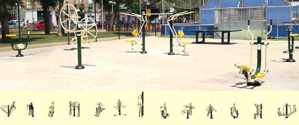 attrezzature sportive per parchi gioco